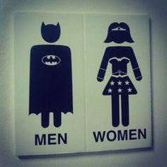 Bathroom sign board