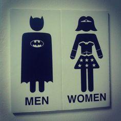 Bathroom sign board