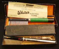 Lot 249 - 2 x c1900 boxed electric combs - Vitalife and Smiths Electric