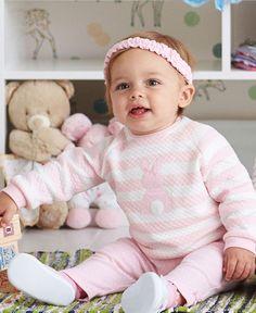 Pink Bunny 3-Piece Sweatshirt Legging Set