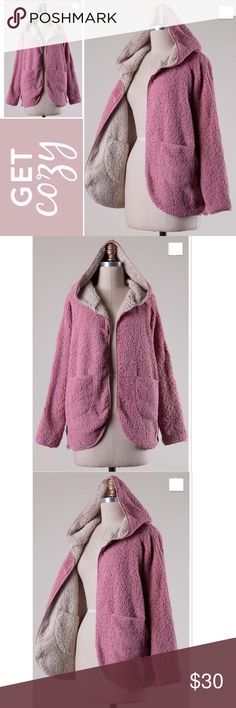 Blush Super Soft Sherpa Coat Blush Super Soft Sherpa   This Sherpa Coat can be reversible by removing the Label Tag. If you would like to use it both ways I can Remove the tag for you :) 100% Polyester Made in China.   ✔️Serious buyers please & No Low ballers!  To me it's asking half or more off an item is Low Balling.   ✔️Please understand the sizes listed on the size chart are different between manufacturers & suppliers & this chart should only be used as an approximate guide. Amor Adore…