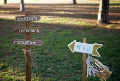 DIY Video | wedding directional signs