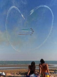 Lignano Sabbiadoro #beach Frecce Tricolori
