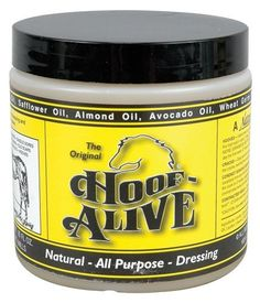 """Hoof Alive - 16 oz by Hoof Alive. $34.95. Astounding results can be achieved with just one application per week. With proper hoof care, most major and all minor cracks should swell shut within one week. Developed by a professional farrier from the concept that the hoof is alive, Hoof Alive penetrates and becomes part of the hoof wall, making the virtually """"weather proof"""" and impervious to new cracks and stress. Made with all-natural ingredients including lanolin, glycerin, coc..."""