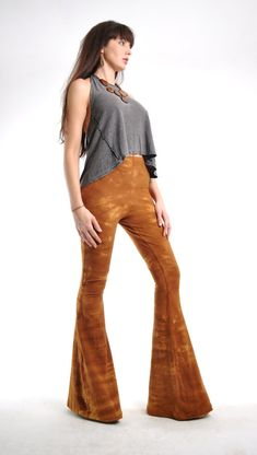 Tie Dyed Bell Bottoms - Extra Long High Waisted Bellbottoms - Hippie Pants - Boho Rocker - Tie Dye Flare Leg Pants Sizes Xs, S, M, L, Xl