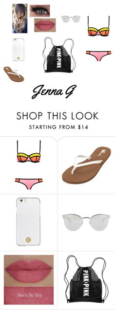 """""""b time"""" by iamjennagarcia on Polyvore featuring WithChic, Volcom, Tory Burch, Fendi and She's So"""
