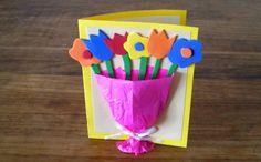 http://cartulina.es/el-dia-del-abuelo-tarjeta-con-goma-eva/ Tarjeta para madre o abuelo hecha con goma eva y cartulina