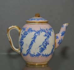 Circa 1760 - 1765 Dimensions 10.50cm high (4.13 inches high) 13.00cm diameter (5.12 inches in diameter) Mediumporcelain OriginFrance DescriptionSevres teapot and cover (Theiere calibre) ConditionFinial re-attached, very minor gilding refreshed and a tiny chip filled to flange of cover ProvenanceNicolier Paris
