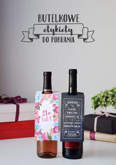 Etykiety na butelkę do wydruku – prezent DIY