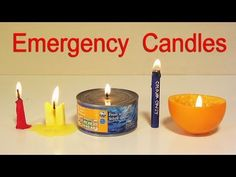 The best DIY projects & DIY ideas and tutorials: sewing, paper craft, DIY. How to Make 5 Emergency Candles - Life Hacks Video Description How to make 5 emergency candles out of household items (cheese wax, butter candle, tuna can Mason Jar Candles, Diy Candles, Emergency Candles, Life Hacks Youtube, Wax Crayons, Simple Life Hacks, Emergency Preparedness, In Case Of Emergency, Candle Making