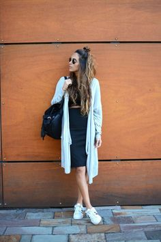 pencil skirt + droptop http://FashionCognoscente.blogspot.com