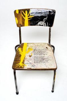 evolution chair decoupage | 1000+ images about Auction Ideas on Pinterest | Scrabble art, School ...