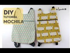 Pizpiretta: DIY Tutorial: Mochila Básica (fácil y rápida) Small Sewing Projects, Sewing For Kids, Sewing Hacks, Sewing Tutorials, Sewing Patterns, Backpack Tutorial, Backpack Pattern, Mochila Tutorial, Diy Bags Purses