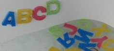 Буквы алфавита из губки для веселого купания малыша