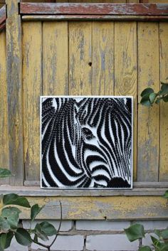 string-art-zebra