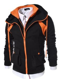 (LCJ14) TheLees Mens 2 Tone Double Zipper Hood Jacket BLACK Medium(US Small) TheLees http://www.amazon.com/dp/B00DJLNXSI/ref=cm_sw_r_pi_dp_z4M1ub0F9SA6W