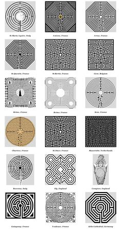 Church & Cathedral Labyrinths - Graphics                                                                                                                                                     More