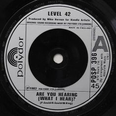 """7"""" 45RPM Are You Hearing (What I Hear)"""