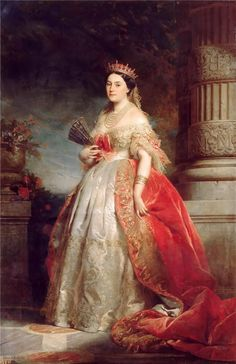 Edouard Dubufe-Matilda-Laetitia Wilhelmine-Bonaparte, known as Princess Mathilda (1820-1904)