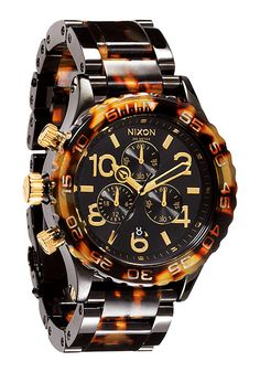 Nixon 42-20 Chrono All Black Tortoise. No words can do this watch justice. In love!