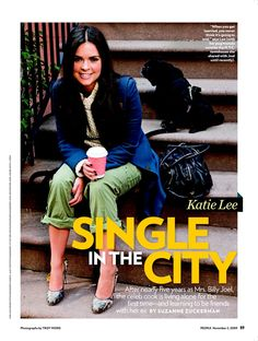 Katie Lee (Joel) with her black pug in People