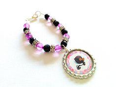 Cute Skunk Bracelet    Gift for Girls   Kids by splendorhoney