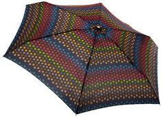 Totes Classics Ladies Micro Manual Compact Umbrella, Black Dot, One Size. Manuel^Compact. Ladies micro brella.