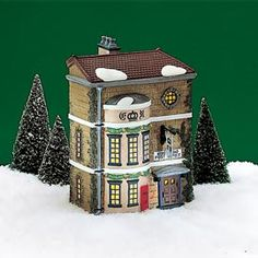 """Department 56: Products - """"King's Road Post Office"""" - View Lighted Buildings"""
