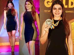 Samantha Ruth Prabhu Flaunts Her Curves In LBD At Behind Woods Awards 2015..  Take a look!