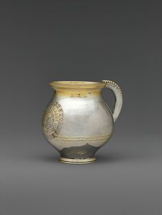 """Mug, 1704. Hungarian, Transylvania. The Metropolitan Museum of Art, New York. Gift of The Salgo Trust for Education, New York, in memory of Nicolas M. Salgo, 2010 (2010.110.53) 