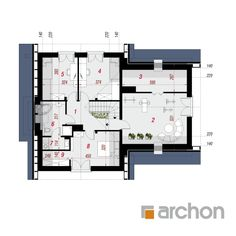 Dom w miłowonkach Modern House Plans, Modern House Design, Design Case, Home Decor Kitchen, Floor Plans, How To Plan, Architecture, House Styles, Future House