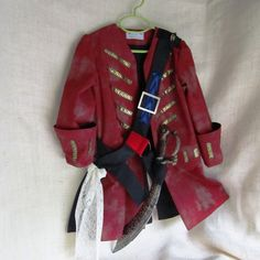 15% Off Sale: Child's Pirate Coat/Jacket & Bandolier With Sword Holder, Fully Lined, Size 5 to 7, Ready To Ship