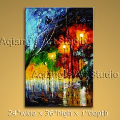Beautiful Contemporary wall art oil paintings of Landscape. Direct from Bo Yi Art Studio. It is with great pleasure to offer you this stunning 1 panel(s) wall art! This painting is created and hand painted by us, it is well stretched with inner frame, rea Modern Canvas Art, Contemporary Wall Art, Canvas Wall Art, Contemporary Landscape, Modern Oil Painting, Modern Art Paintings, Abstract Paintings, Palette Knife, Large Wall Art