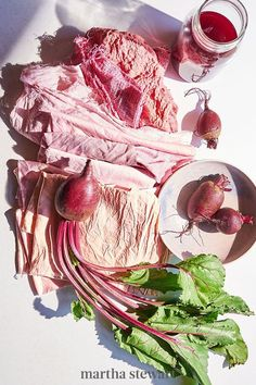 Vegetables, plants, and fruit all combine to create a brilliant rainbow of dye colors. As textile artist Kiva Motnyk demonstrated, natural dyes are a craft made for the outdoors. Whether you use homegrown produce or a bottle of Rit dye—roll up your sleeves, and transform anything that needs a pop of color. #marthastewart #crafts #diyideas #easycrafts #tutorials #hobby