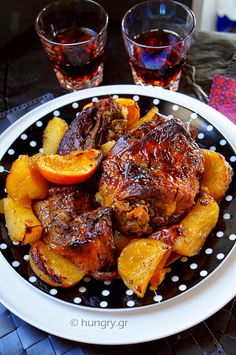 Greek Cooking, Greek Recipes, Tasty Dishes, Lamb, Good Food, Pork, Cooking Recipes, Favorite Recipes, Chicken