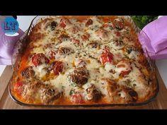 KÜLÖNLEGES MEGHÍVÓKHOZ, NAGYON ÍZES, Könnyű, sült burgonyás húsgombóc - YouTube Salty Foods, Biscotti, Ground Beef, Vegetable Pizza, Lasagna, Baked Potato, Carne, Appetizers, Tasty
