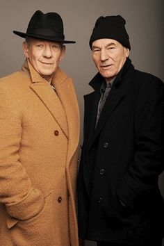 Ian McKellen + Patrick Stewart - Two Luvvies of the London stage.