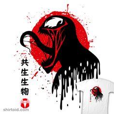 Toxic Face | Shirtoid #albertocubatas #comic #comics #film #japanese #marvelcomics #movie #supervillain #venom