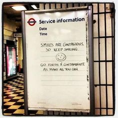 So if you're having a bad day, just look out for signs like these. | 24 London Underground Signs That Will Brighten Your Day