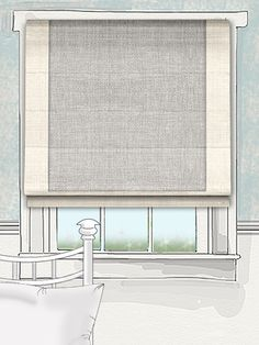Ashville Grey Weave Roman Blind by tuiss ®