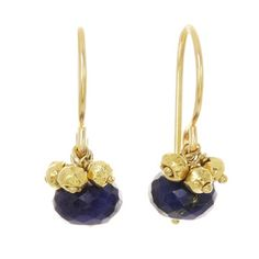 Rondelle Earrings Lapis, $65, now featured on Fab.