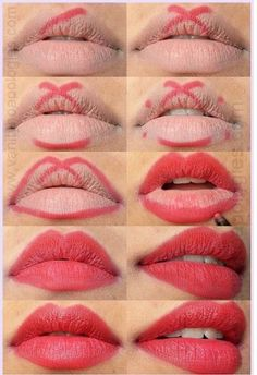 perfect red lips tutorial step by step - Trend Hair Makeup Flawless Skin 2019 Lipgloss, Red Lipsticks, Makeup Lipstick, Drugstore Makeup, Lipstick Dupes, Eyeliner Makeup, Lipstick Tricks, Kylie Lipstick, Fox Makeup