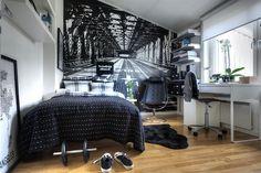 Dormitorio en blanco y negro / Black & White bedroom