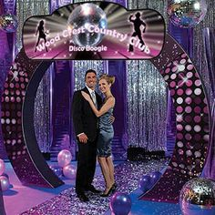 Use the Personalized Disco Arch as your Disco Party entrance or for pictures. The Disco Arch can be personalized with your own groovy message.
