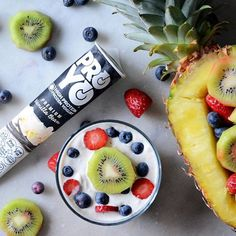 Pair your ProYo Frozen Yogurt with all of your favorite fruits for the perfect protein packed, GMO-free snack! How delicious! Find recipes on our website: http://proyofrozenyogurt.com/