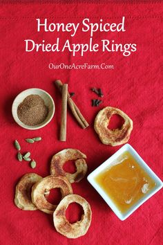 This is a tutorial on drying apples. Apple rings are soaked in a dilute solution of honey and water to prevent browning. Then just before drying they are dusted with a bit of a sugar-spice mixture. Two options for spice mixtures are suggested. A great way to preserve apples, and a nutritious snack all winter long.