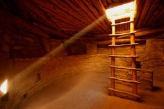 Inside a Kiva at the Spruce House, Mesa Verde, Colorado.