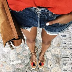 WEBSTA @ sincerelyjules - Tanned legs. ❤️ | full look on sincerelyjules.com