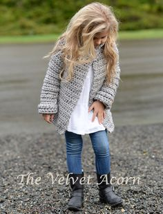 CROCHET PATTERN-The Verge Sweater 2 3/4 5/7 8/10 by Thevelvetacorn
