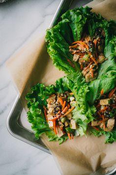Shiitake Tofu Lettuce Cups + The Clever Carrot Cookbook